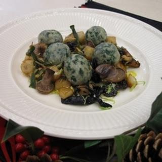 Spinach, Chestnut And Sage Gnocchi