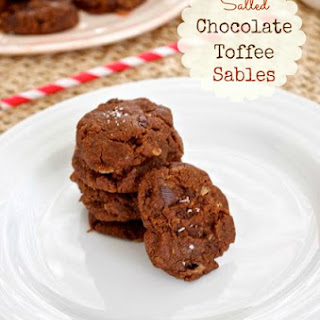 Salted Chocolate Toffee Sables