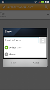 Carbonite Sync & Share- screenshot thumbnail