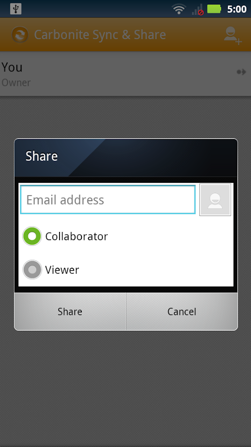 Carbonite Sync & Share- screenshot