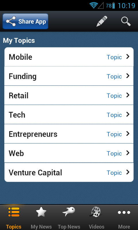 Startup News - Riversip - screenshot