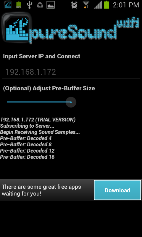 pureSound WIFI Trial - screenshot