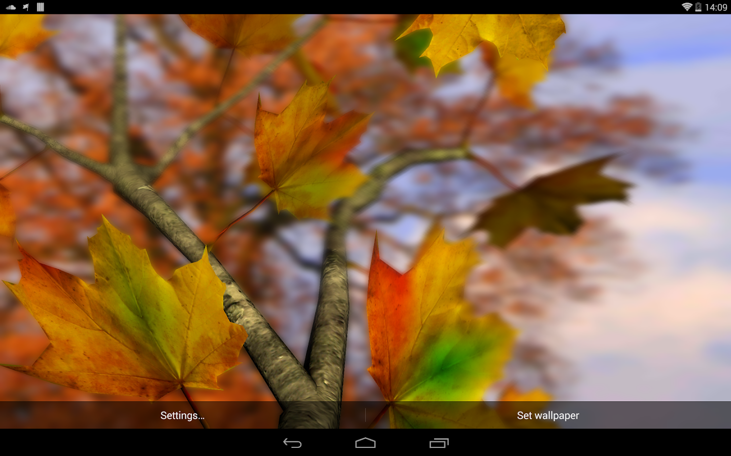 Autumn Leaves in HD Gyro 3D Parallax Wallpaper- screenshot