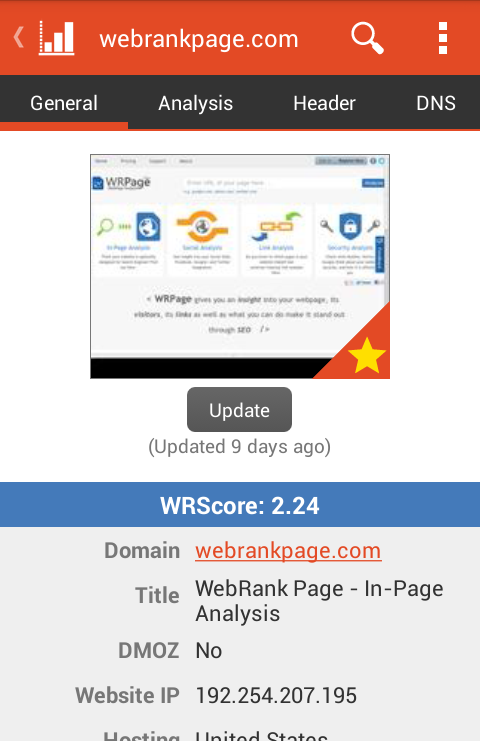 WebRank SEO- screenshot
