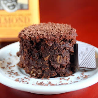 Chocolate Almond Rum Brownies.