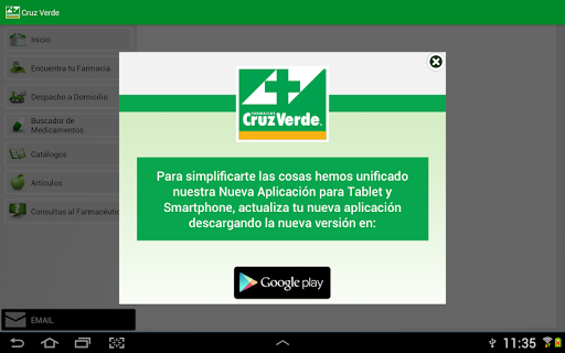 Cruz Verde Tablet