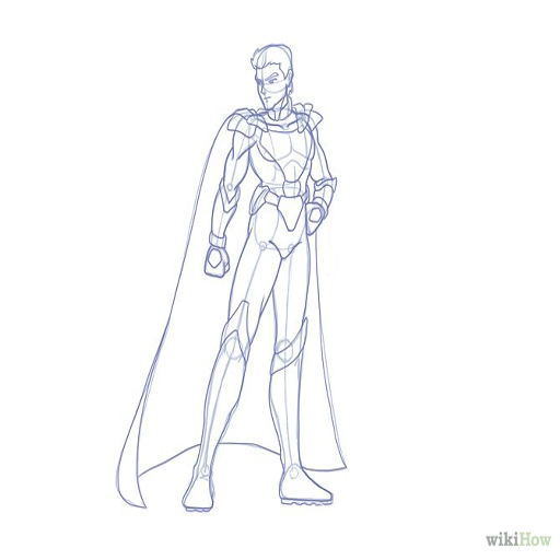 how to draw superhero
