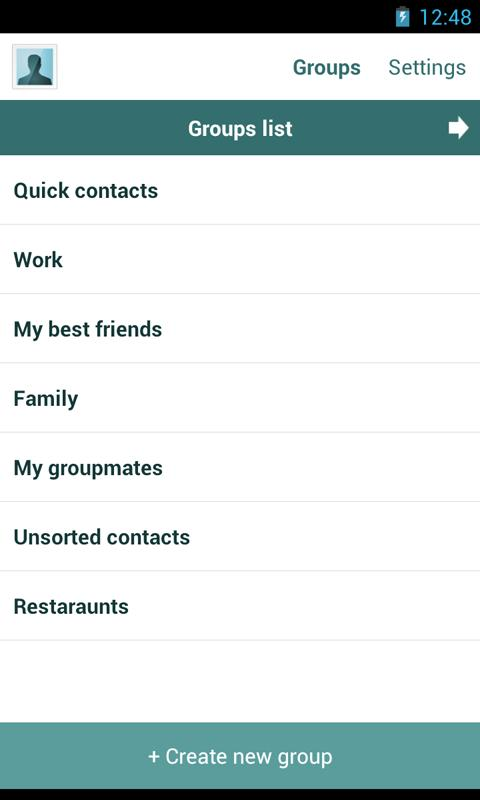 Quick Contacts - screenshot