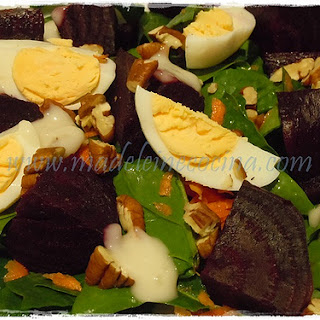 Beet and Spinach Salad.