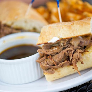 Crockpot Beef Dip Sandwiches with Broth