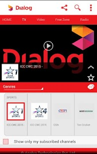 Dialog Live Mobile Tv Online - screenshot thumbnail