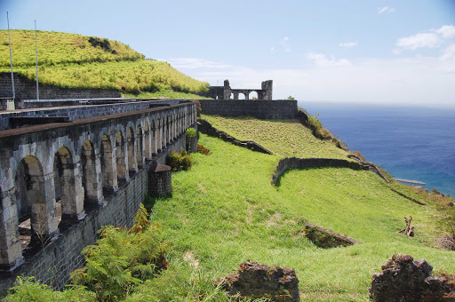 brimstone-hill-saint-kitts - The historic fortification of Brimstone Hill on St. Kitts.