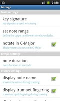 Screenshot of Trumpet Fingering Trainer Demo