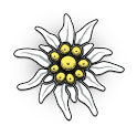 Edelweiss Flower Clock Widget icon