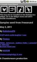 Screenshot of 4-Sounds Soundboard Widget
