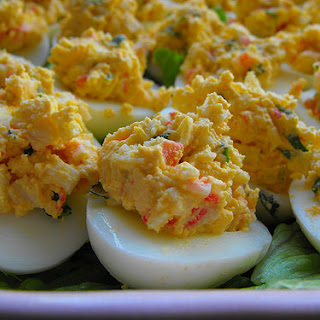 Eggs Stuffed with Sea Delights