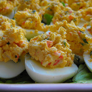 Eggs Stuffed with Sea Delights.