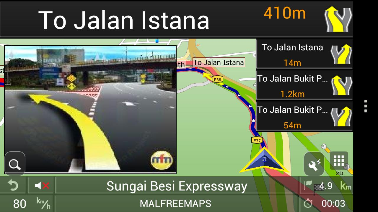 PAPAGO! GPS Navigation SG&MY - screenshot