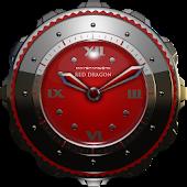 Dragon Clock Widget red