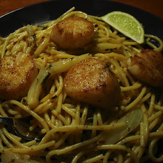 Scallop and Fennel Pasta in Lime Butter Sauce.