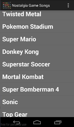 【免費音樂App】Nostalgia Game Songs-APP點子