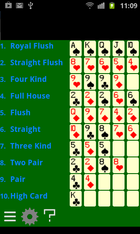Poker Hands - screenshot