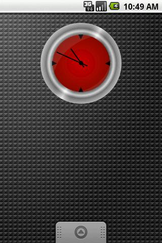 Metal Clock Widget 2x2 - screenshot