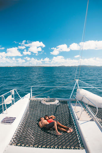 Tere-Moana-catamaran - Book a day at the beach that allows you to journey to your snorkeling destination by catamaran on your Tere Moana cruise.