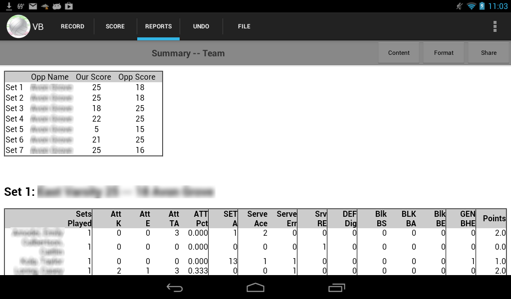 Volleyball Stat!- screenshot