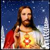 Jésus en clignant des yeux