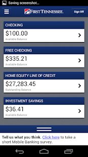 First Tennessee Mobile Banking- screenshot thumbnail