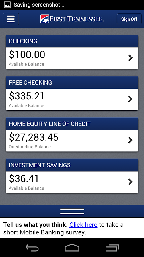 First Tennessee Mobile Banking- screenshot