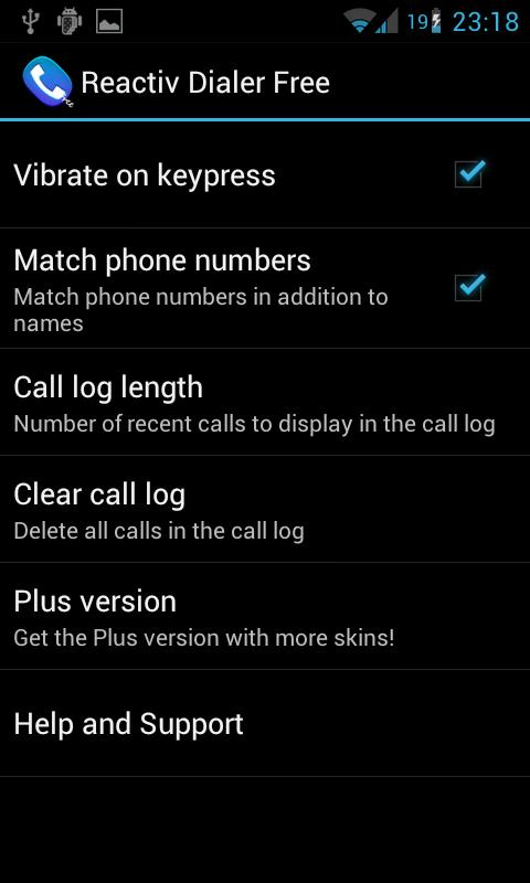 Reactiv Dialer free - screenshot