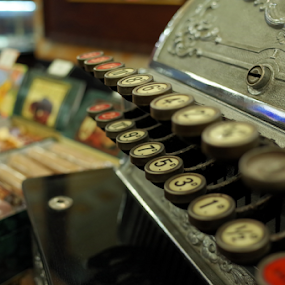 Cash-only by Mike Bing - Artistic Objects Antiques ( budapest, chocolate, dof, cash-register )