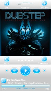 Poweramp skin MellowBlue - screenshot thumbnail