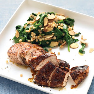 Spice-Rubbed Chicken with Israeli Couscous.
