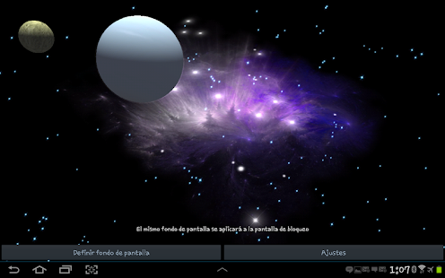 3D Galaxy Live Wallpaper Full - screenshot thumbnail