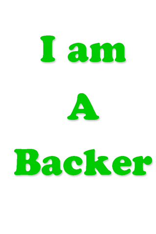 I am A Backer- screenshot