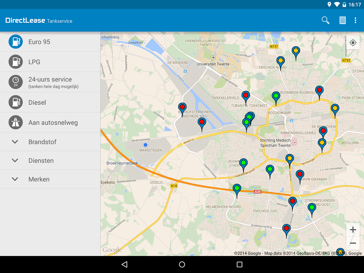 DirectLease Tankservice - screenshot