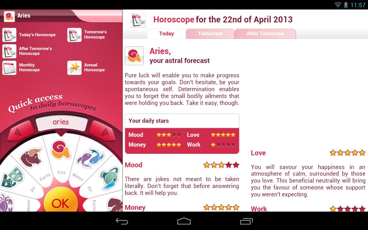Free Personal Horoscope - screenshot