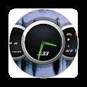 Zooper Black Car Dash icon