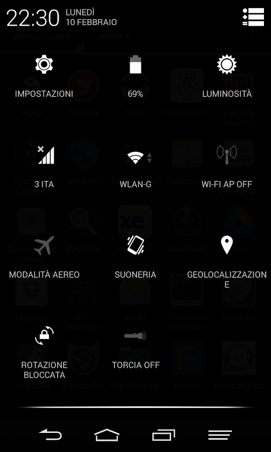 Black Infinitum Theme - Light- screenshot