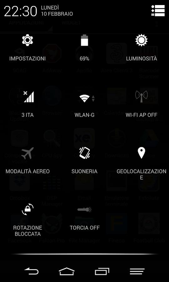 Black Infinitum Theme - Light - screenshot