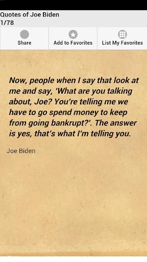 Quotes of Joe Biden