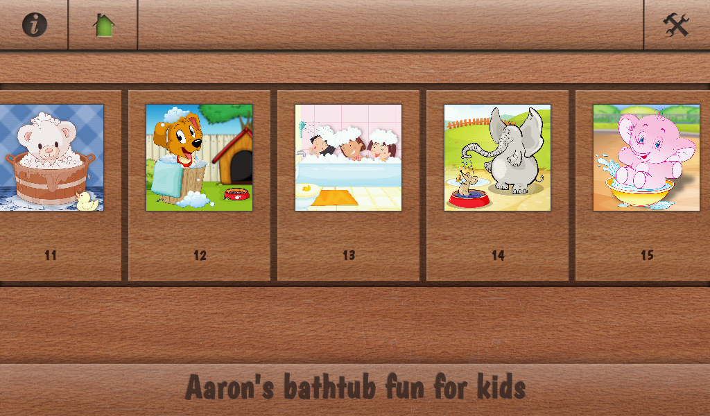Aaron's kids bathing pet games- screenshot