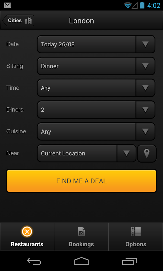 TablePouncer - UK Dining Deals - screenshot