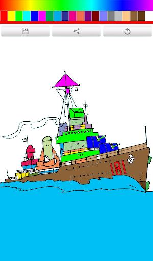 Coloring Book Ship
