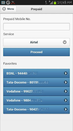 Mobile Recharge DTH Datacard