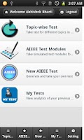 Screenshot of IIT JEE MAINS Mock Test