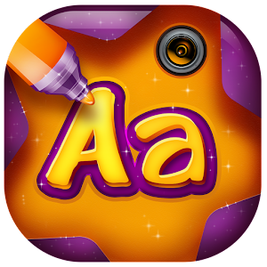 Photo editor writing app